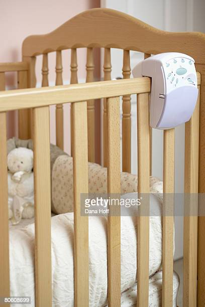 Crib with monitor