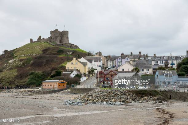 Criccieth town and castle, North Wales