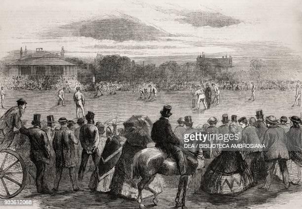 Cricked match illustration from the magazine The Illustrated London News volume XLIII June 6 1863