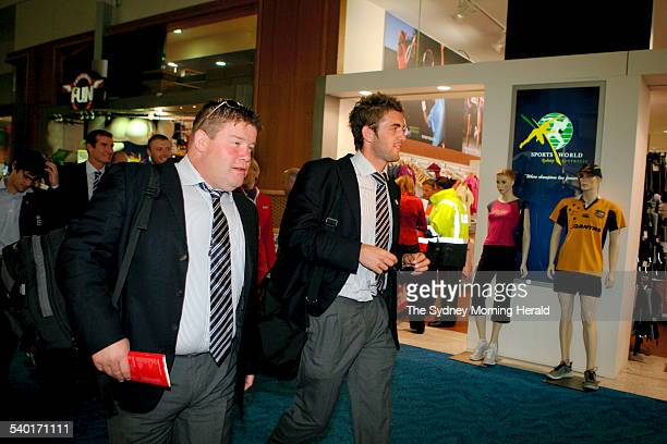 Cricket 20062007 England's Dean Conway heads into customs at Sydney International Airport as the English Cricket team headed home after winning the...