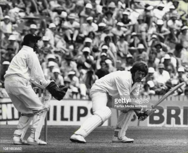 Cricket 4th Test at SCGS Rixon cuts Chandra for 2 January 07 1978