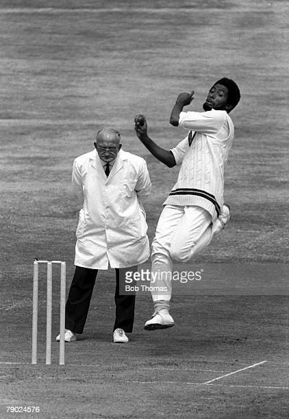 Cricket 4th Test Match Headingley Yorkshire England v West Indies West Indies won by 55 runs A picture of West Indies fast bowler Andy Roberts about...