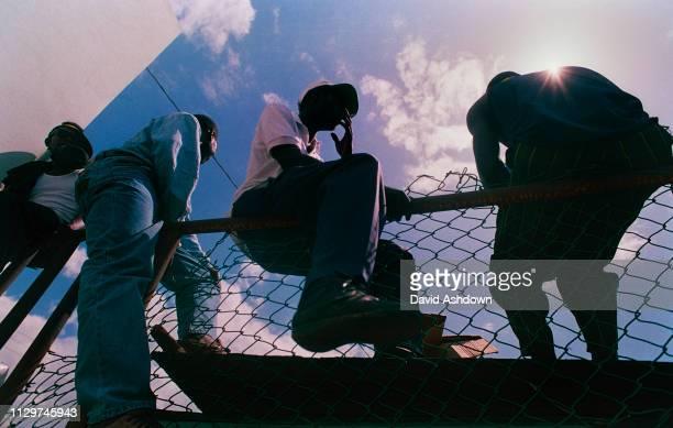 Cricket 4th Test West Indies v England at the Kensington Oval, Bridgetown, Barbados April 1994.