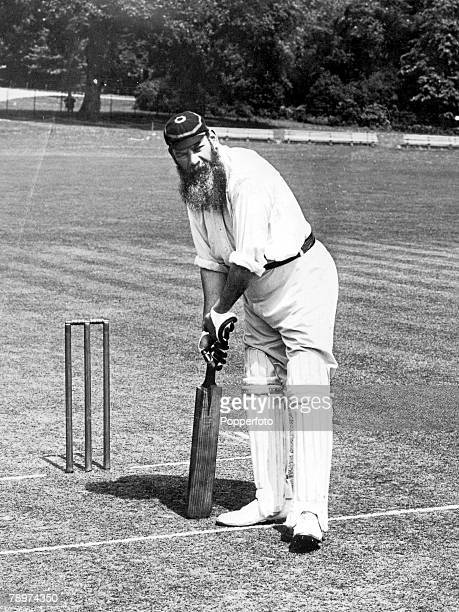 Cricket, A picture of legendary WG Grace playing cricket.