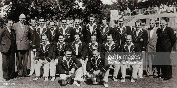 Cricket A picture of the Australian Cricket team touring England for the Ashes, Back Row L-R: Mr A James , Mr WJ Dowling , K Mackay, JW Burke, J...