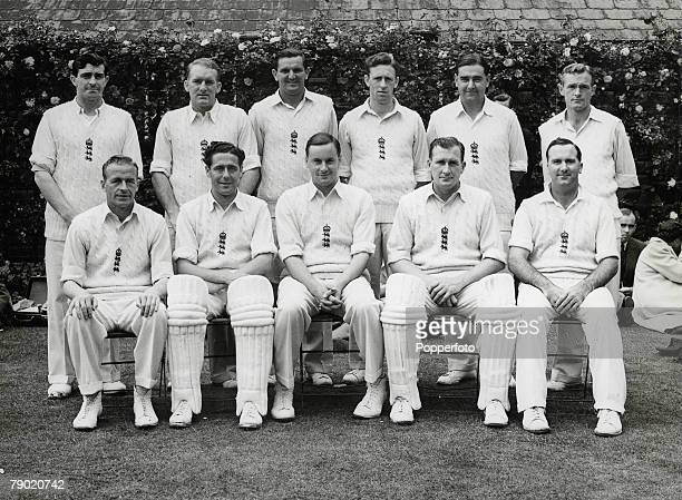 Cricket A picture of the England Cricket team selected for the Ashes test match to be played at Old Trafford Manchester from July 2631 Back Row LR F...