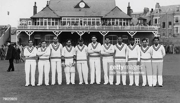 Cricket A picture of the India Cricket side that toured England for a Test series seen here at the Scarborough Cricket Festival LR DK Gaekwad P Roy...