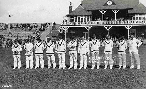 Cricket A picture of the MCC Cricket side for the tour to Australia 1932-33 at the Scarborough Cricket Festival, L-R: E Paynter, G Duckworth, M...