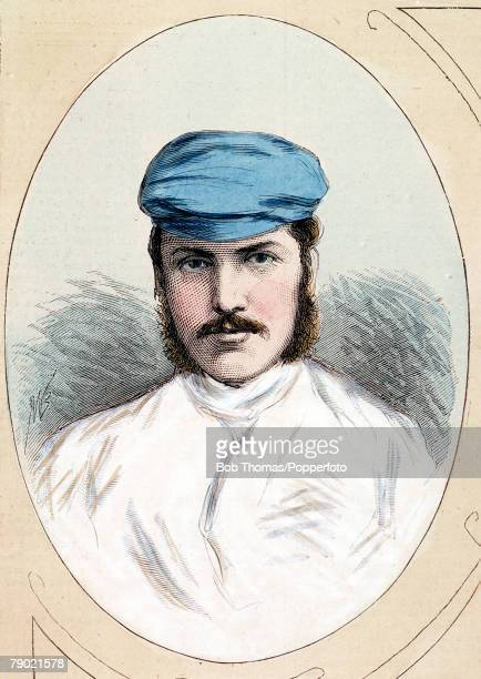 Cricket An illustration of the Gloucestershire and England cricketer GF Grace Grace was a middleorder righthanded batsman righthand fast roundarm...