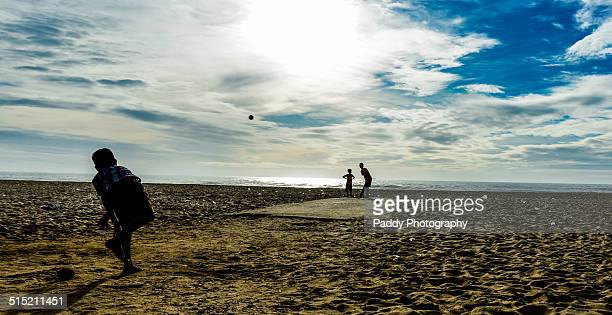 Cricket at the beach