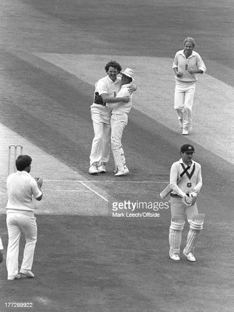 Cricket at The Oval, England v Australia, Australian captain Allan Border becomes Richard Ellison's third victim in the 6th test second innings, Paul...