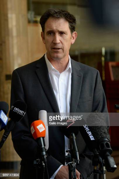 Cricket Australia CEO James Sutherland during the Cricket Australia Press Conference at Sandton Towers on March 28 2018 in Johannesburg South Africa