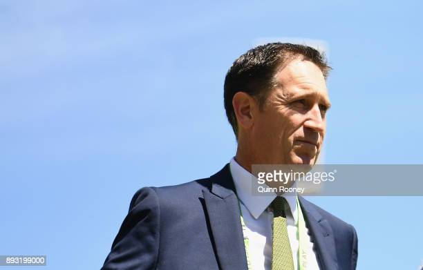Cricket Australia CEO James Sutherland looks on during day two of the Third Test match during the 2017/18 Ashes Series between Australia and England...