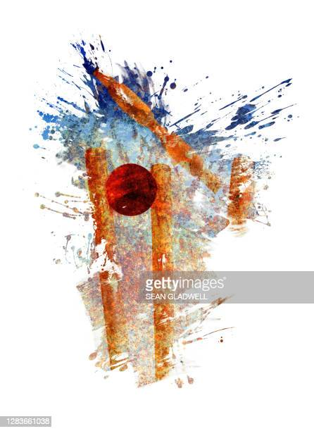 cricket ball hitting stumps - cricket ball stock pictures, royalty-free photos & images