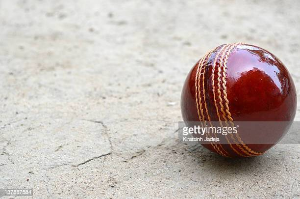 Cricket Ball On The Pitch