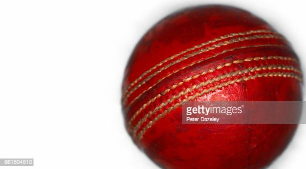 Cricket ball with copy space
