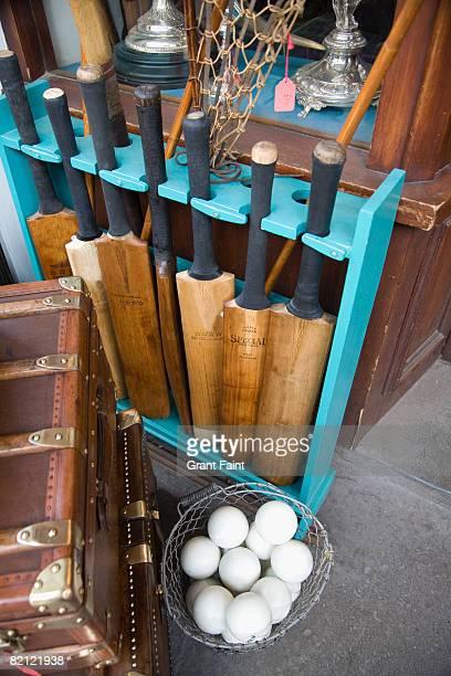 Cricket bats and balls