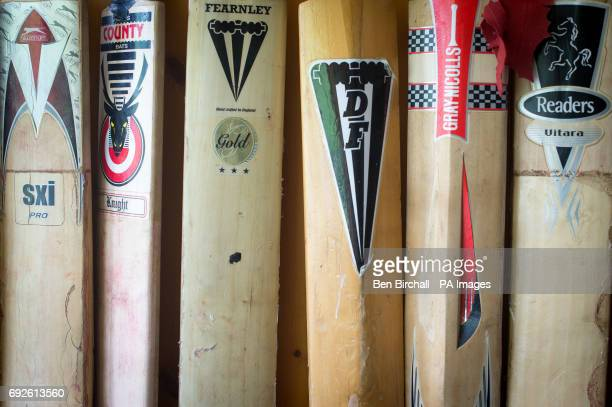 Cricket Bats Hang On The Wooden Cladded Walls Of Lynton Lynmouth News Photo Getty Images