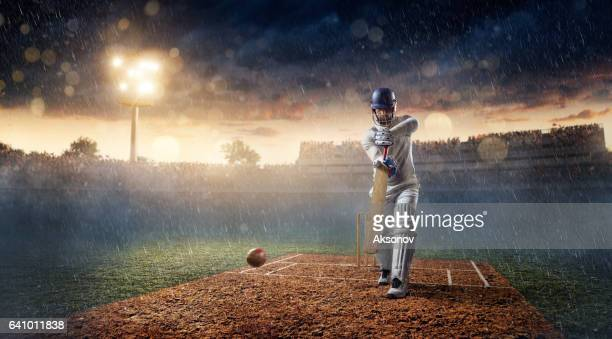 Cricket: Schlagmann auf dem Stadion in Aktion