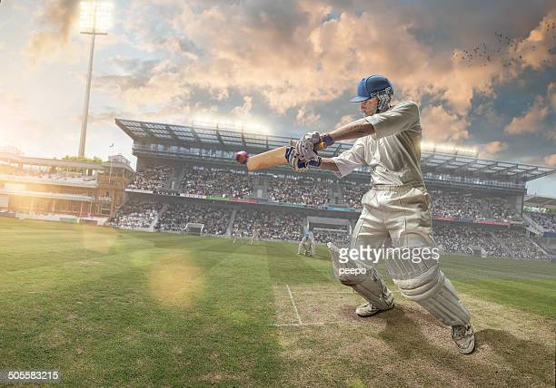 cricket batsman - cricket stockfoto's en -beelden