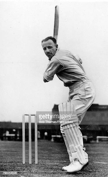 Cricket Circa 1930 A picture of Sir Donald Bradman the legendary Australia New South Wales and South Australia righthanded batsman seen here...