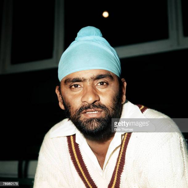 Cricket Circa 1977 Bishen Singh Bedi Northamptonshire and India spin bowler