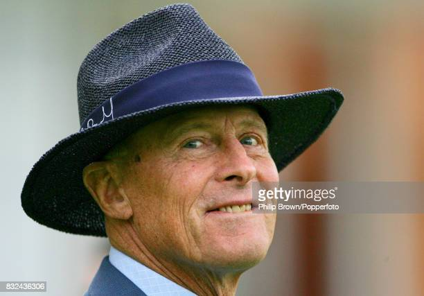 Cricket commentator and former England and Yorkshire cricketer Geoffrey Boycott waiting for the presentation ceremony at the end of the 1st Test...