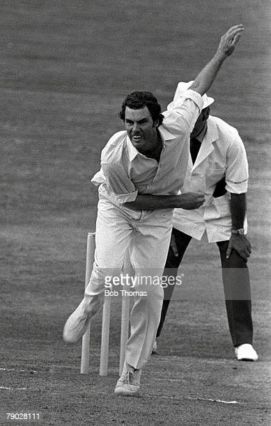 Cricket County Ground, Northampton, Northamptonshire v Australia, Australian bowler Greg Chappell, brother of captain Ian Chappell, in bowling action