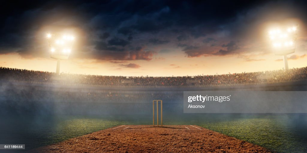 Cricket: Cricket stadium : Stock Photo