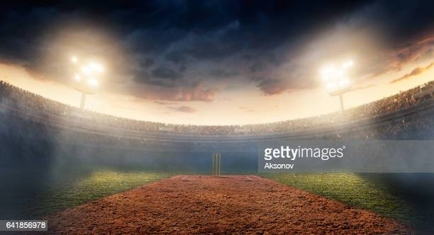 cricket: cricket stadium - wicket stock pictures, royalty-free photos & images