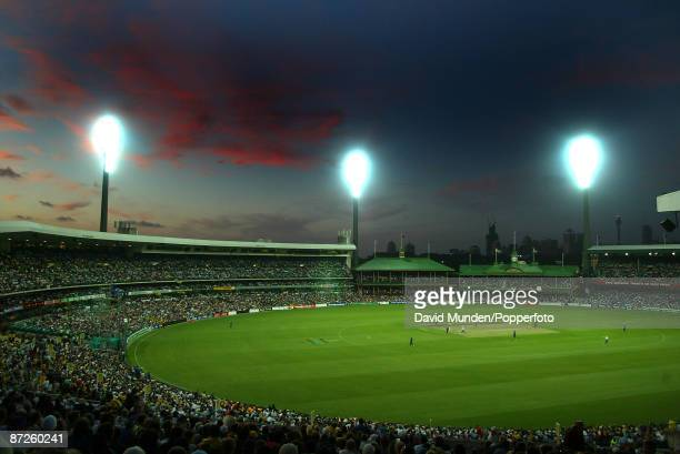 Cricket England tour of Australia Australia v England 1 Day International at Melbourne A GENERAL VIEW OF THE SYDNEY CRICKET GROUND UNDER FLOODLIGHTS...