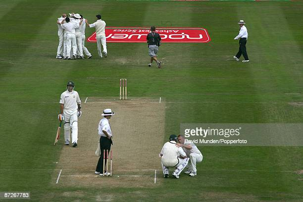 Cricket England v Australia at Edgbaston 2nd Test 4th day 2005 MICHAEL KASPROWICZ GLOVES A BALL FROM STEVE HARMISON TO BE CAUGHT BY GERAINT JONES...