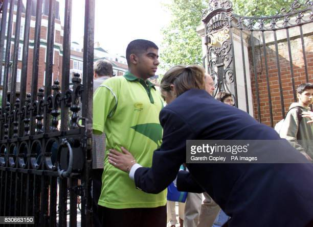 Cricket fans are searched before they enter Lord's cricket ground for the Natwest One Day International Triangular series final between Australia and...