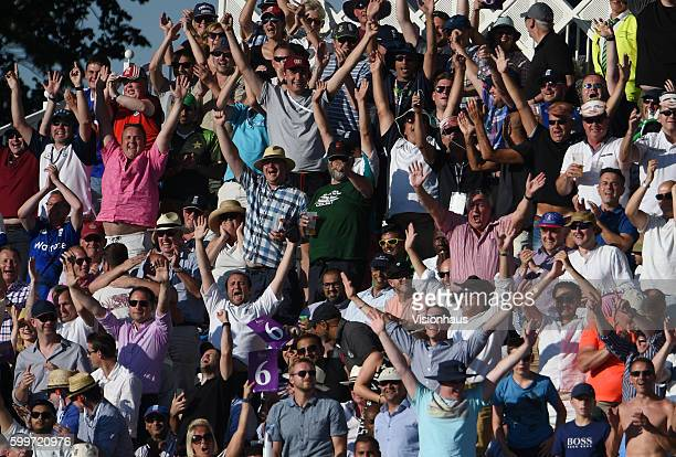 Cricket fans enjoying the day during the 3rd Royal London ODI between England and Pakistan at Trent Bridge on August 30 2016 in Nottingham United...