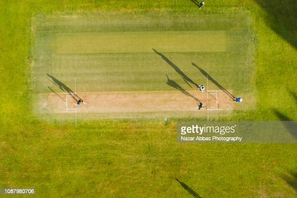 cricket game. - cricket stockfoto's en -beelden