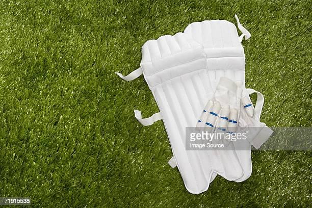 cricket gloves and shin pads - padding stock pictures, royalty-free photos & images