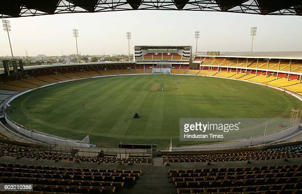 Cricket - Gujarat Cricket Association's Sardar Patel Stadium, Motera, getting ready on Monday for the upcoming second test match between India and...