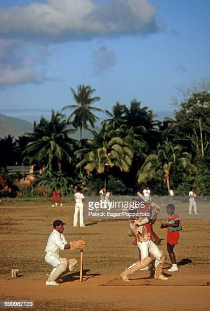 Cricket in Trinidad, circa 1987.