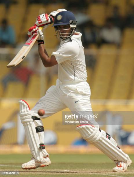 Cricket - India vs South Africa Second Test Match at Ahmedabad - India batsman Sourav Ganguly bats on his way to the half century on the third day of...
