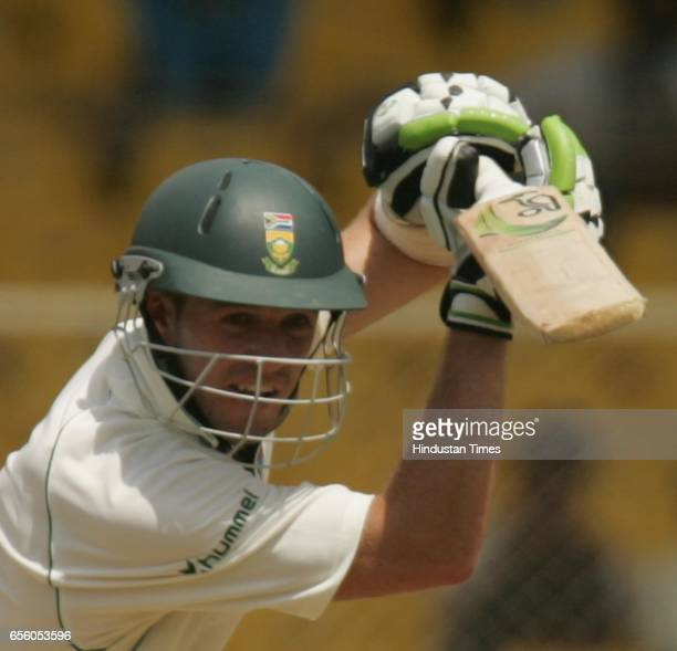 Cricket India vs South Africa Second Test Match at Ahmedabad South African batsman AB de Villers bats on his way to double century on the second day...