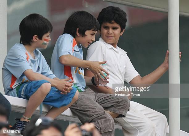 Cricket India vs Sri Lanka Test Series India player Sachin Tendulkar 's son Arjun during the fourth day of the third test match between India and Sri...