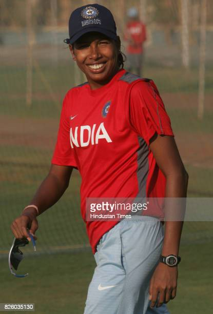 Cricket Indian Women cricket teams captain Jhulan Goswami during the teams practice session at MCA ground at BKC on Monday