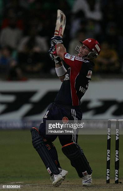 Cricket IPL2 Delhi's David Warner bats during the match between Delhi and Kolkata at Kingsmead ground Durban
