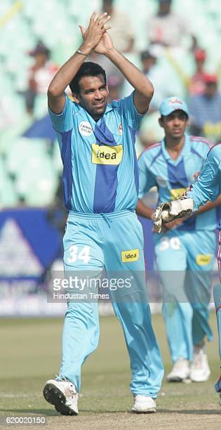Cricket IPL2 Mumbai Indians Zaheer Khan during the match against Hyderabad at Kingsmead ground Durban
