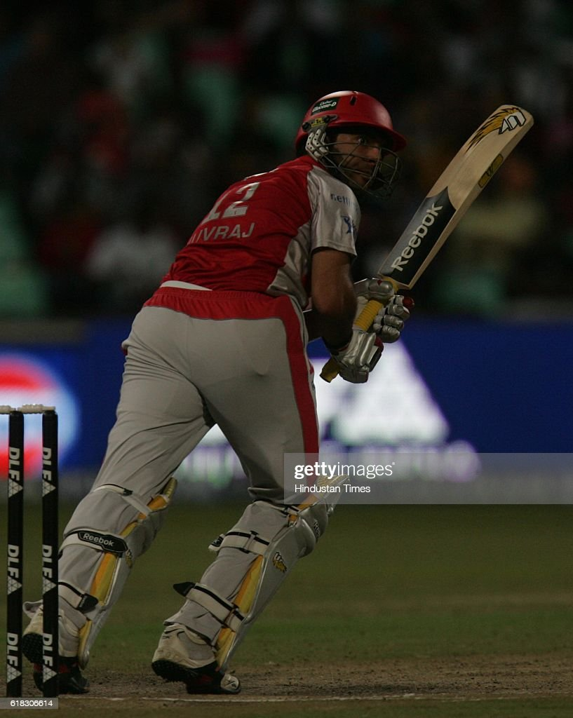 Cricket IPL2 Punjab`s Yuvraj Singh bats during the match between Bangalore and Punjab at Kingsmead groundDurban
