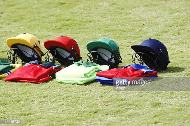 Cricket kit on the ground