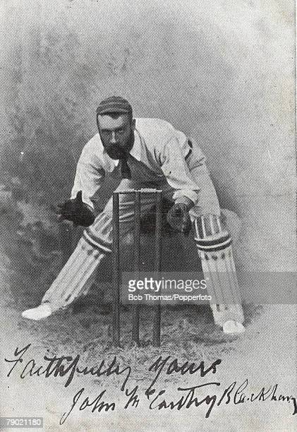 Cricket Late 19th Century A picture of JM Blackham the legendary Victoria and Australia wicketkeeper Regarded as the Prince of Australian...
