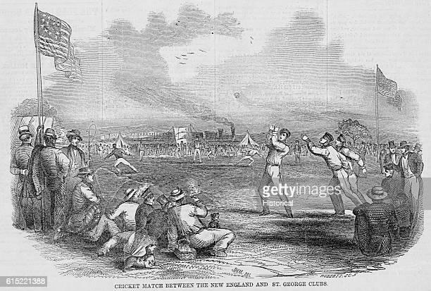 A cricket march between the New England and St George's clubs took place at Hoboken New Jersey in 1851