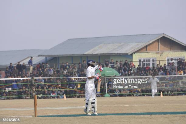 Cricket match being played where Indian wicket keeper and Lt COL Mahendra Singh Dhoni was as chief guest in Kunzer on November 26 2017 in Srinagar...