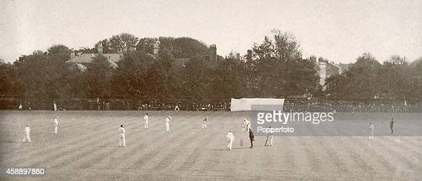 A cricket match between the United England Eleven and Australia at the Priory Park Ground in Chichester on 26th June 1892 The Australians won the...